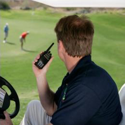 Golfer Using Wireless Equipment